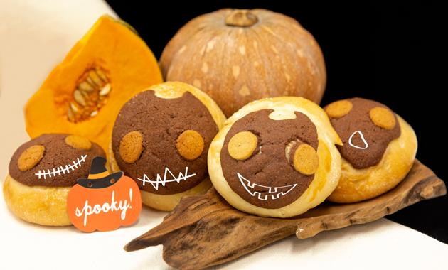 Spooky Pumpkin Bolo Buns
